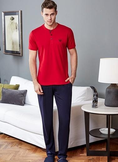 Eros Pijama Takım Kırmızı